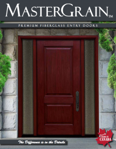 Master Grain Fiberglass entry doors